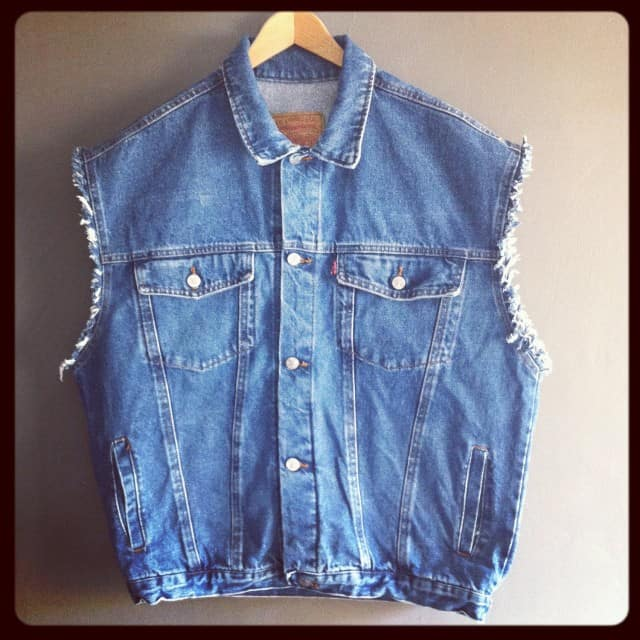 Sleeveless Mens Denim Jacket