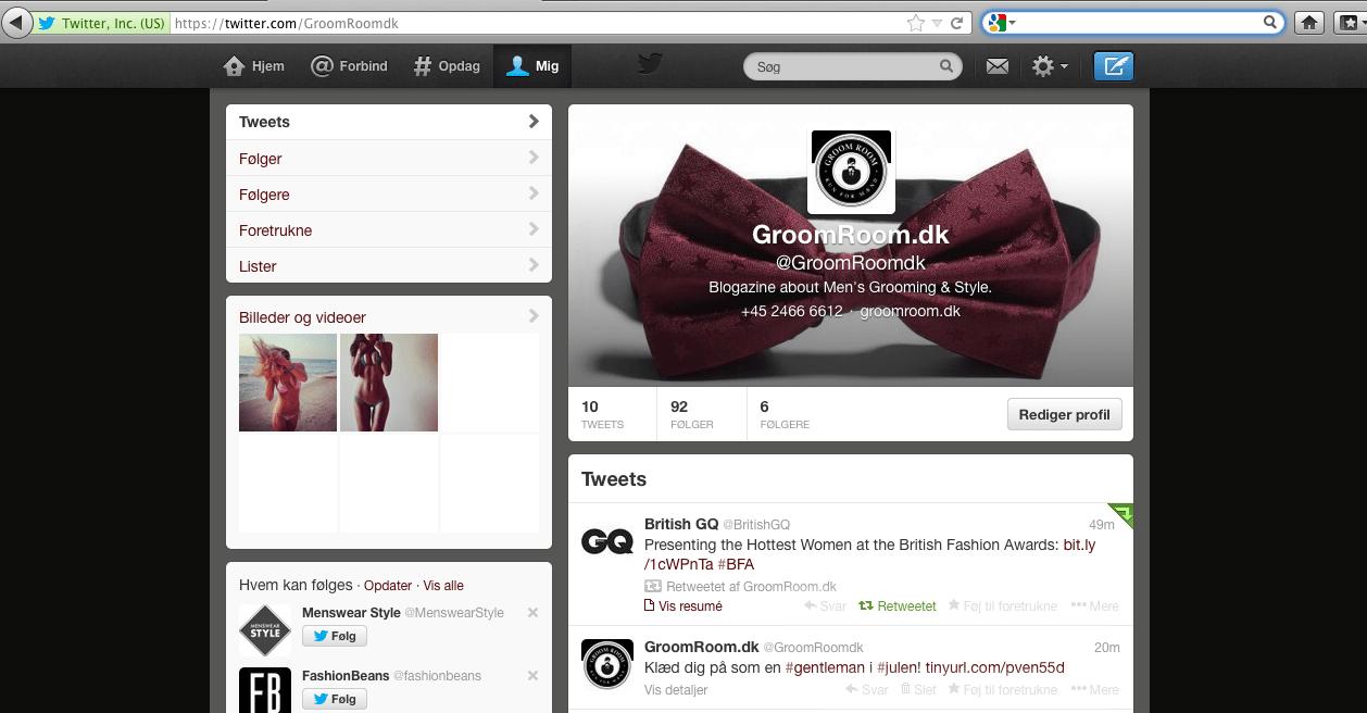 GroomRoom.dk Twitter