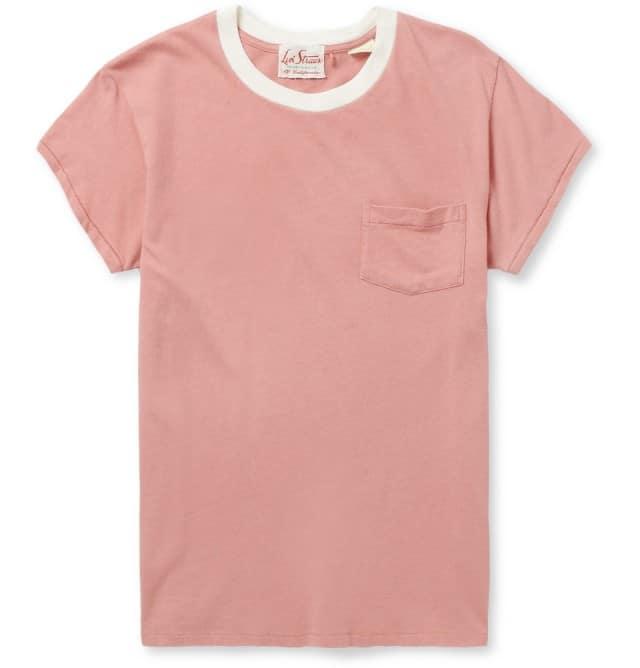 1950s Cotton-Jersey Crew Neck T-Shirt Lewis Vintage Clothing