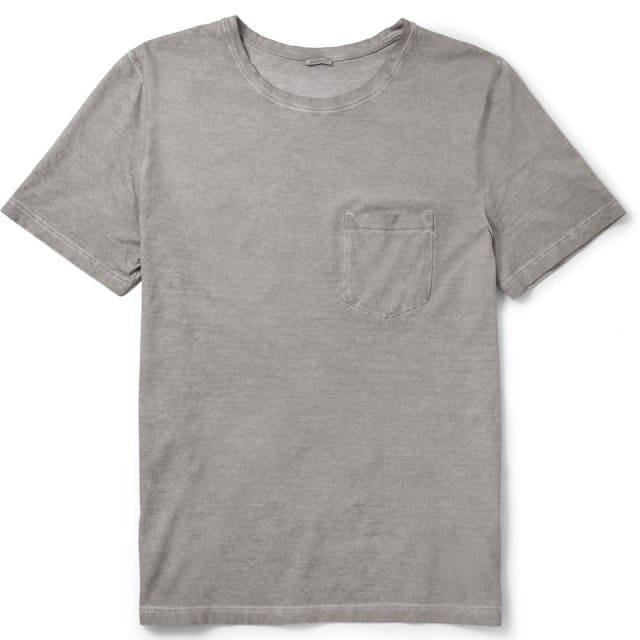 Garment-Dyed Cotton T-Shirt Massimo Alba