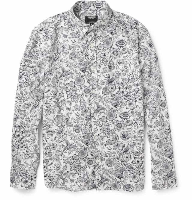 Printed Cotton-Poplin Shirt Tod Snyder