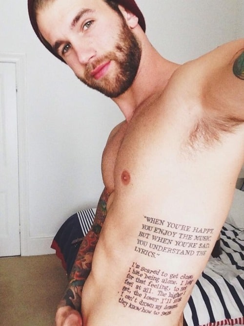 Quotes-Tattoo-on-Side-for-Men