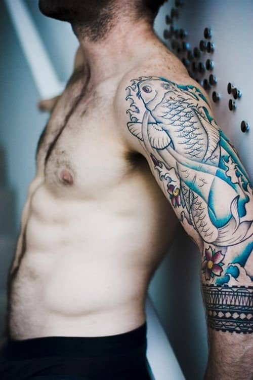 Sleeve-Koi-Fish-Tattoos-for-Men