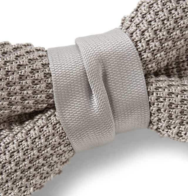 Knitted Silk Bow Tie Lanvin