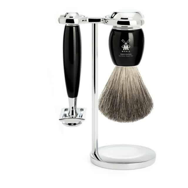 Barbersæt med DE skraber til under en tusse