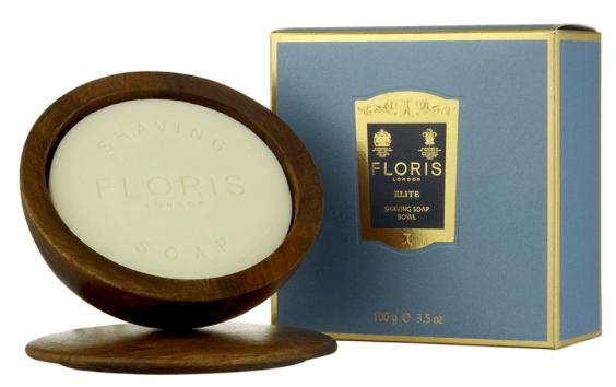 Floris Elite, Barbersæbe i træskål, 365 kr.