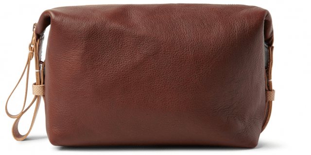 5 toilettasker til mænd - TARNSJO GARVERI Icon Two-Tone Leather Wash Bag