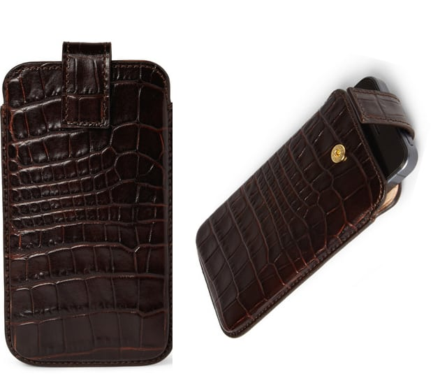 Crocodile Embossed Leather Iphone 5 Case Smythson