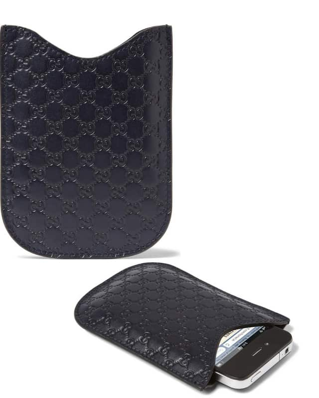 Embossed Leather Iphone Case Gucci