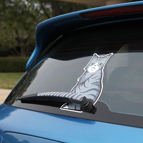 Vinduesvisker - Moving Tail Kitty Car Decal