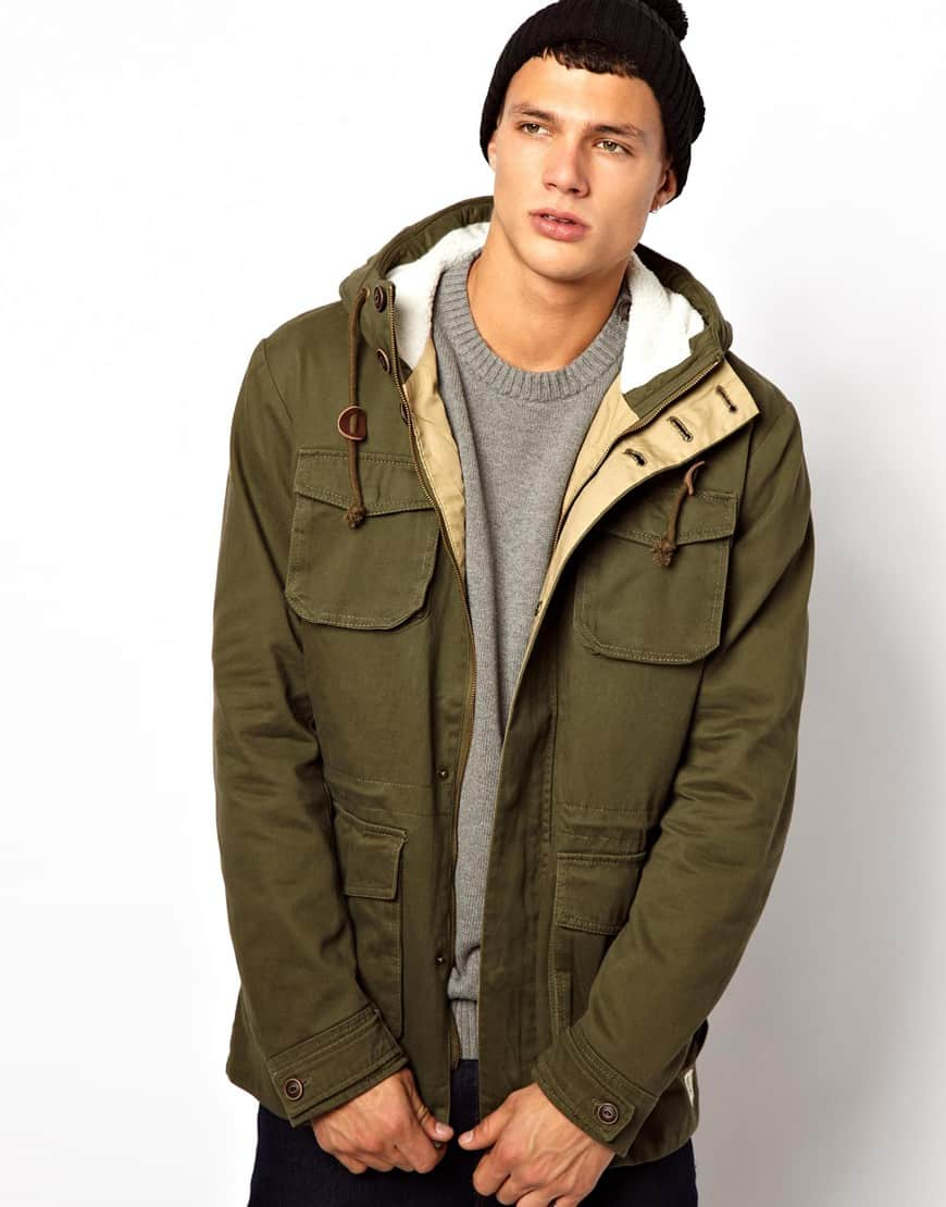 Parka Jacket with Borg Hood Jack Jones