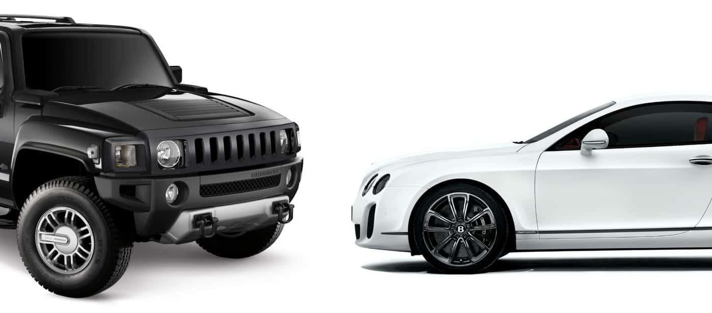 Hummer H Bentley Continental Supersports
