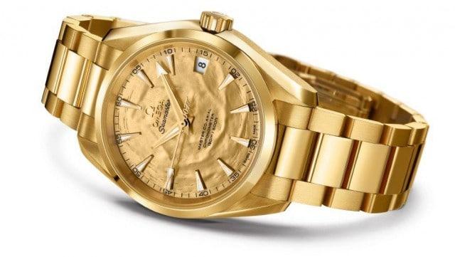 Omega Seamaster Aqua Terra Goldfinger på auktion