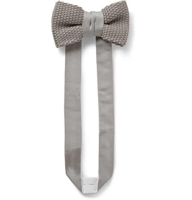 Forny jakkesættet: Knitted Silk Bow Tie Lanvin