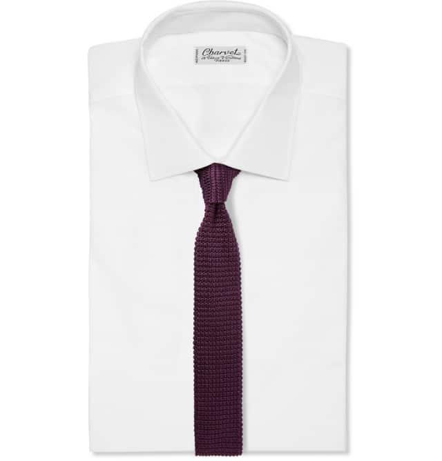 Forny jakkesættet: Lanvin Knitted Silk Tie