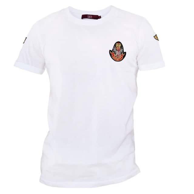 les-deux-t-shirt-hvid-royalty-tee-forfra