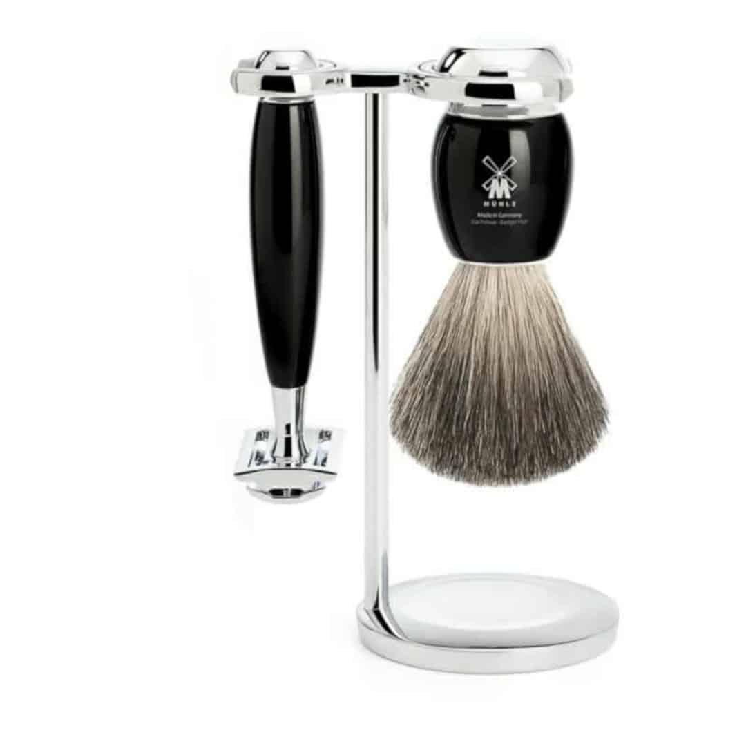 f6ba816eae7 Komplet barbersæt med DE skraber