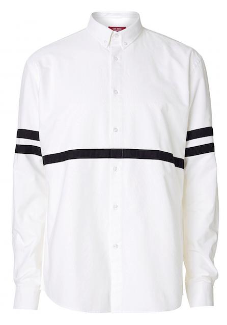 Hvid skjorte med et tvist